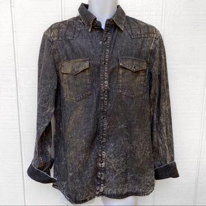 Men's Guess Denim Long Sleeve Lincoln Shirt L